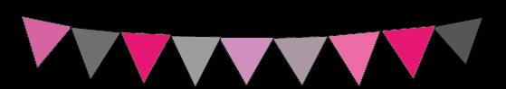 Banderola rosa y gris