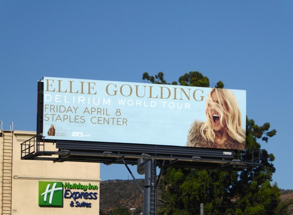Ellie Goulding Delirium world tour billboard