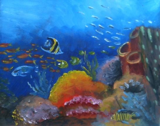 Underwater Oil Paintings A Separate Piece Art: ...