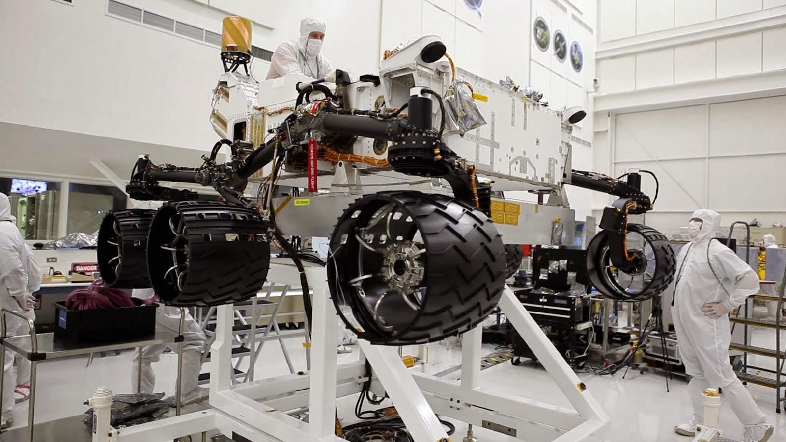 Curiosity MSL (en el laboratorio)