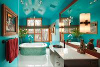 diseño de baño turquesa
