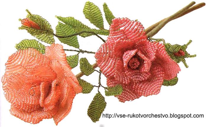 сплести розу из бисера: