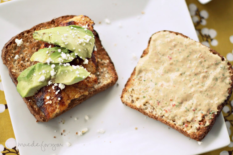 ... .for.you.: Grilled Chicken & Avocado Sandwich with Tomato Basil Aioli