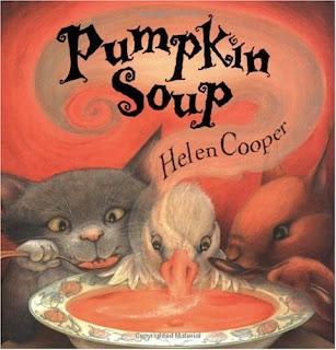 bookcover of Pumpkin Soup by Helen Cooper