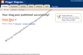 Creating a Blog on blogspot