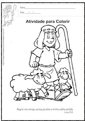 A ovelha perdida - Atividade para colorir