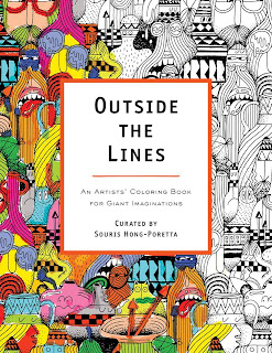 outside the lines, an artists' coloring book for giant imaginations