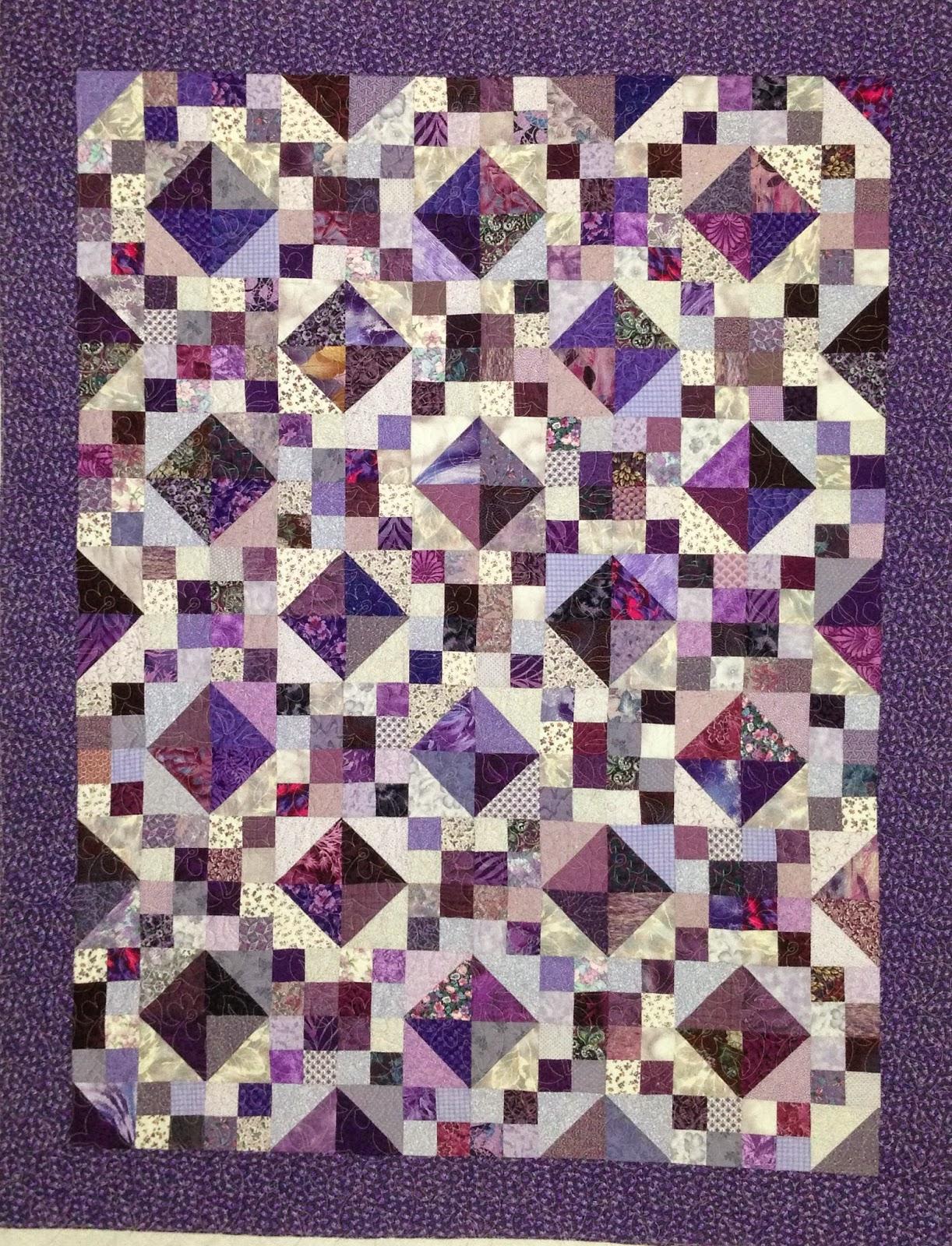 Pearl Combs Multi Lavender Scrap Quilt
