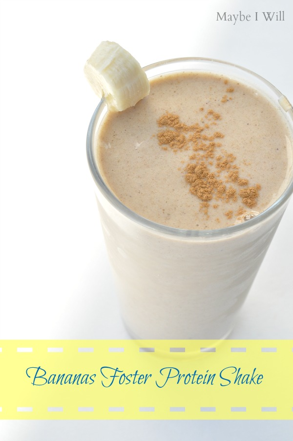 Bananas Foster Protein Shake... Need I say more?!? So TASTY!!! You might lick the cup... just sayin'...#proteinshakes #52weeksofshakes #bananasfoster