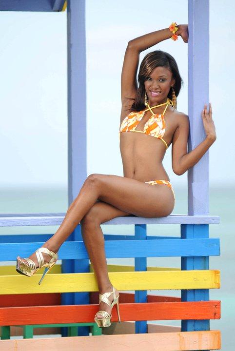 Shaquelle Demeritte in bikini
