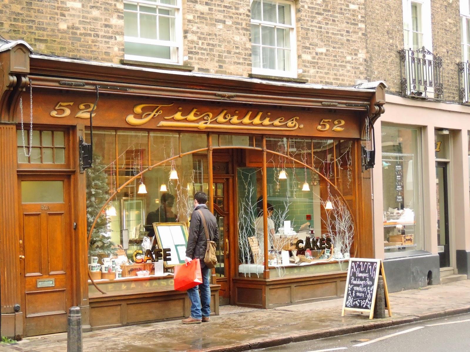 Fitzbillies cafe, Cambridge