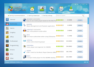 linux deepin software center