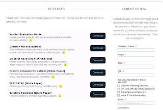Screenshot of Resources page