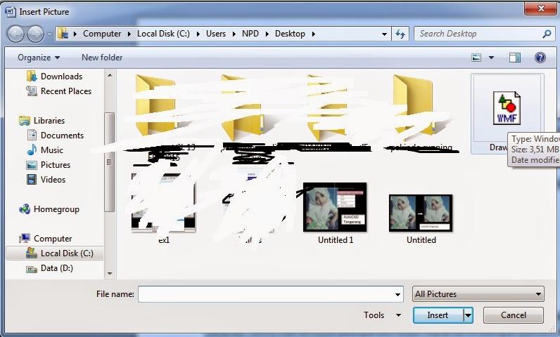 Cara Memindahkan Gambar AutoCAD kedalam Word.