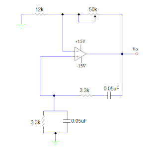 circuit diagram sine wave generator using op amp