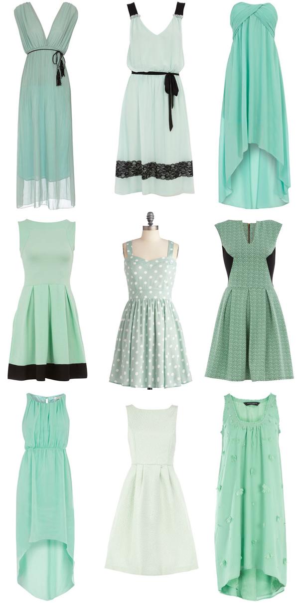 Vestidos verde menta salida de sexto