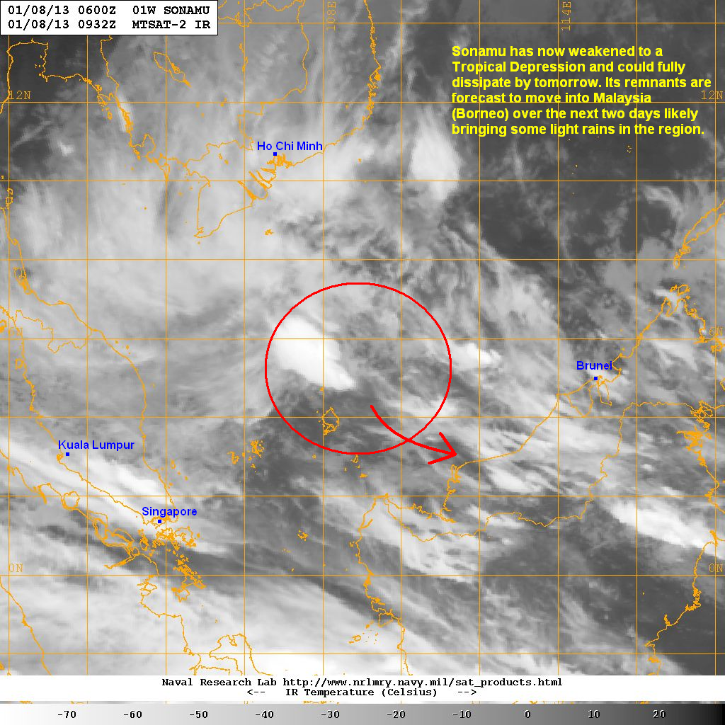 latest satellite image shows the system looking much weaker compared to yesterday the area of convection has significantly shrunk down as the strong