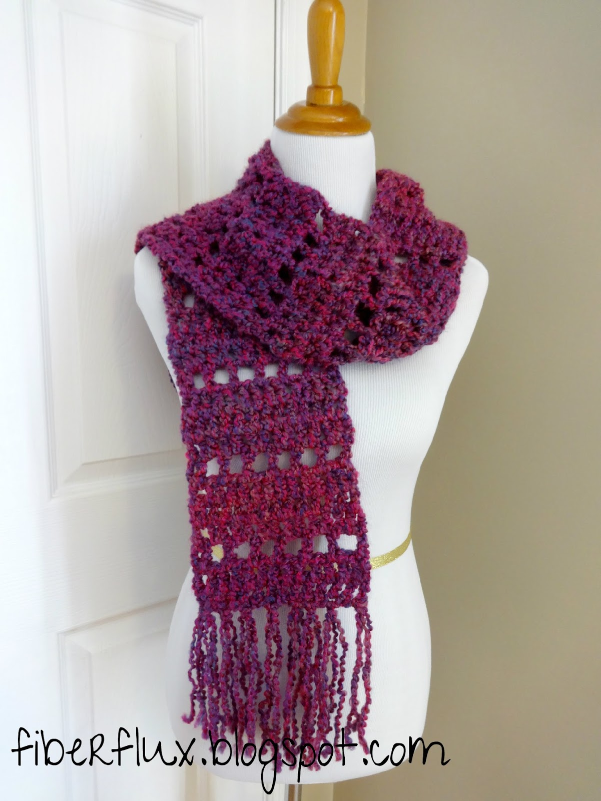 Crochet Vs Knit Scarf : Fiber Flux: Free Crochet Pattern...Mulberry Scarf!