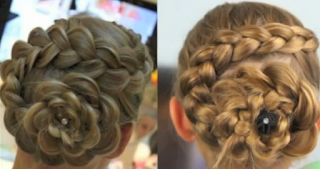 dutch flower braid updo