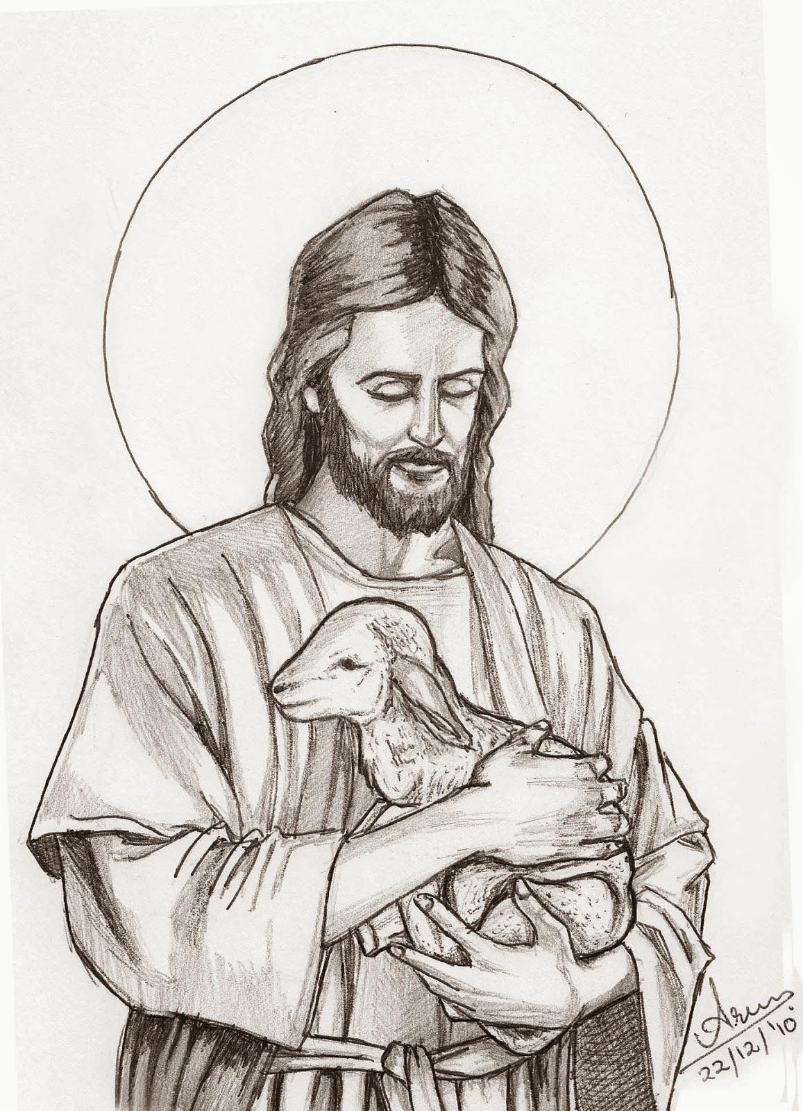 Line Drawing Jesus Christ : Jesus christ sketch