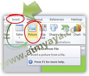 Gambar: Menyisipkan gambar dalam dokumen