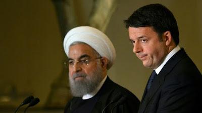 Italian Prime Minister Matteo Renzi and Iranian President Hassan Rouhani