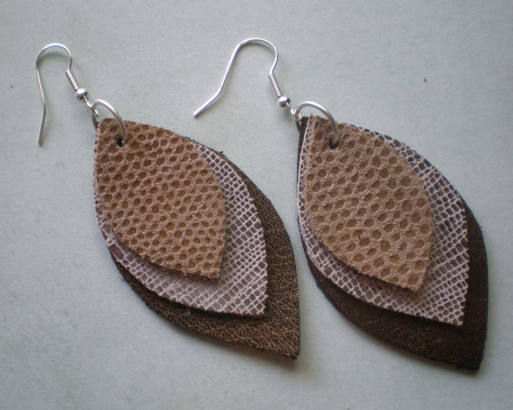 Design by night leather earring tutorial for Leather shapes for crafts
