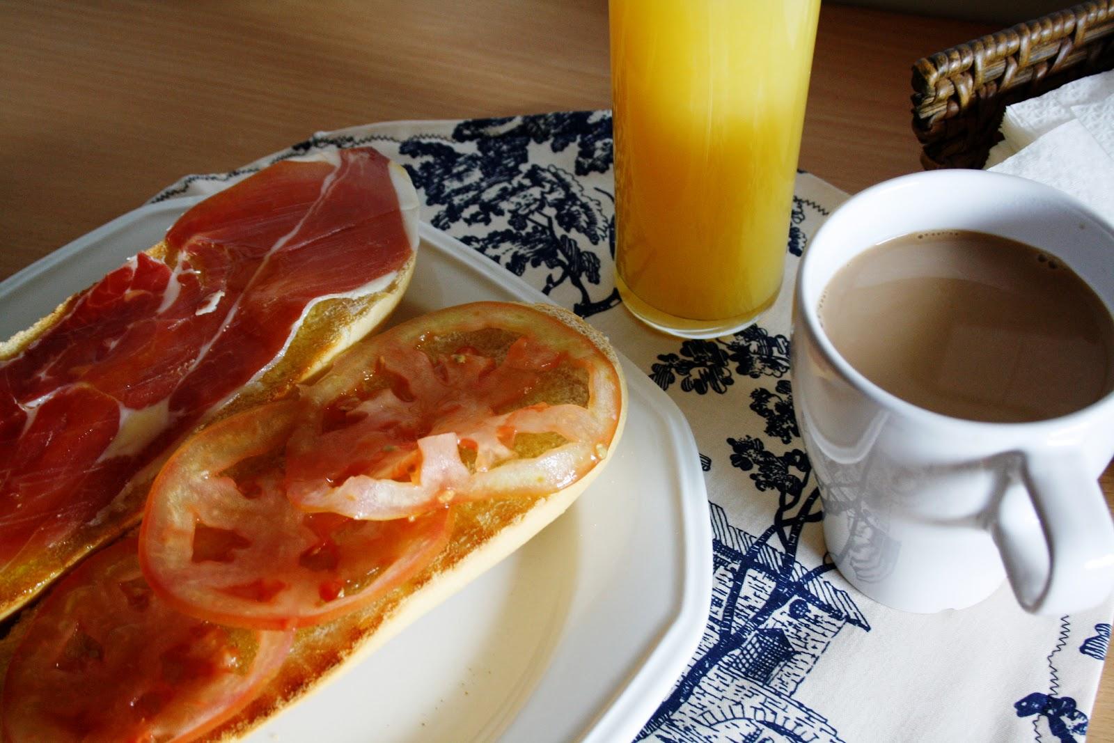 La Cocina de Maricarmen: Desayuno español - Spanish breakfast Desayuno Espanol Tipico