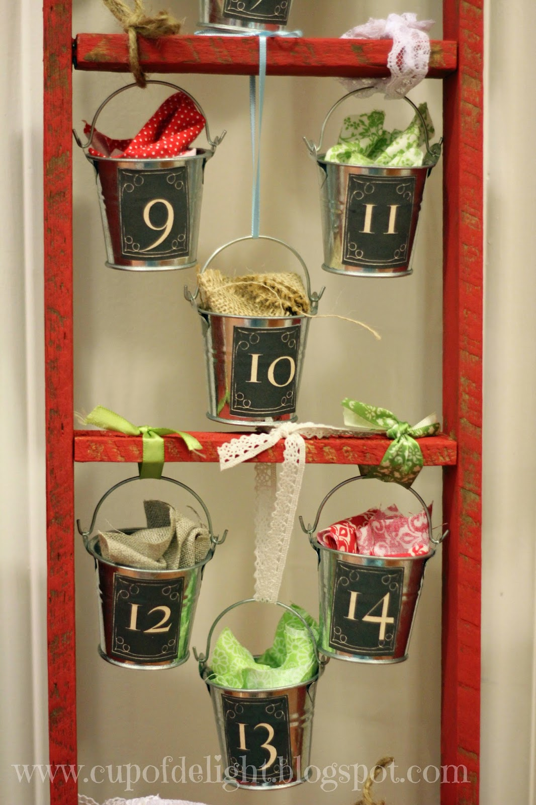 Ladder and Bucket Advent Calendar