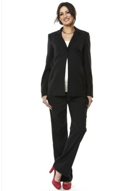 Stelan blazer dan celana panjang untuk ibu hamil