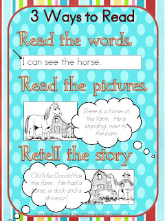 Daily 5 kindergarten 3 ways to read poster chart