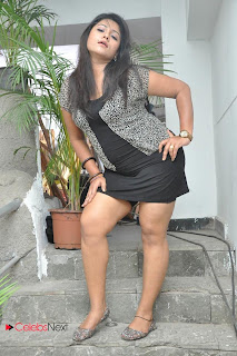 Jyothi  Picture Shoot Gallery in Black Mini Dress  0007