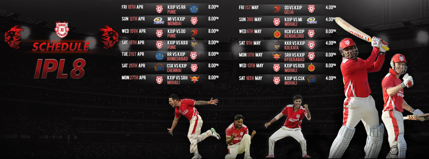 King's Xi Punjab IPL 2015 Facebook Cover