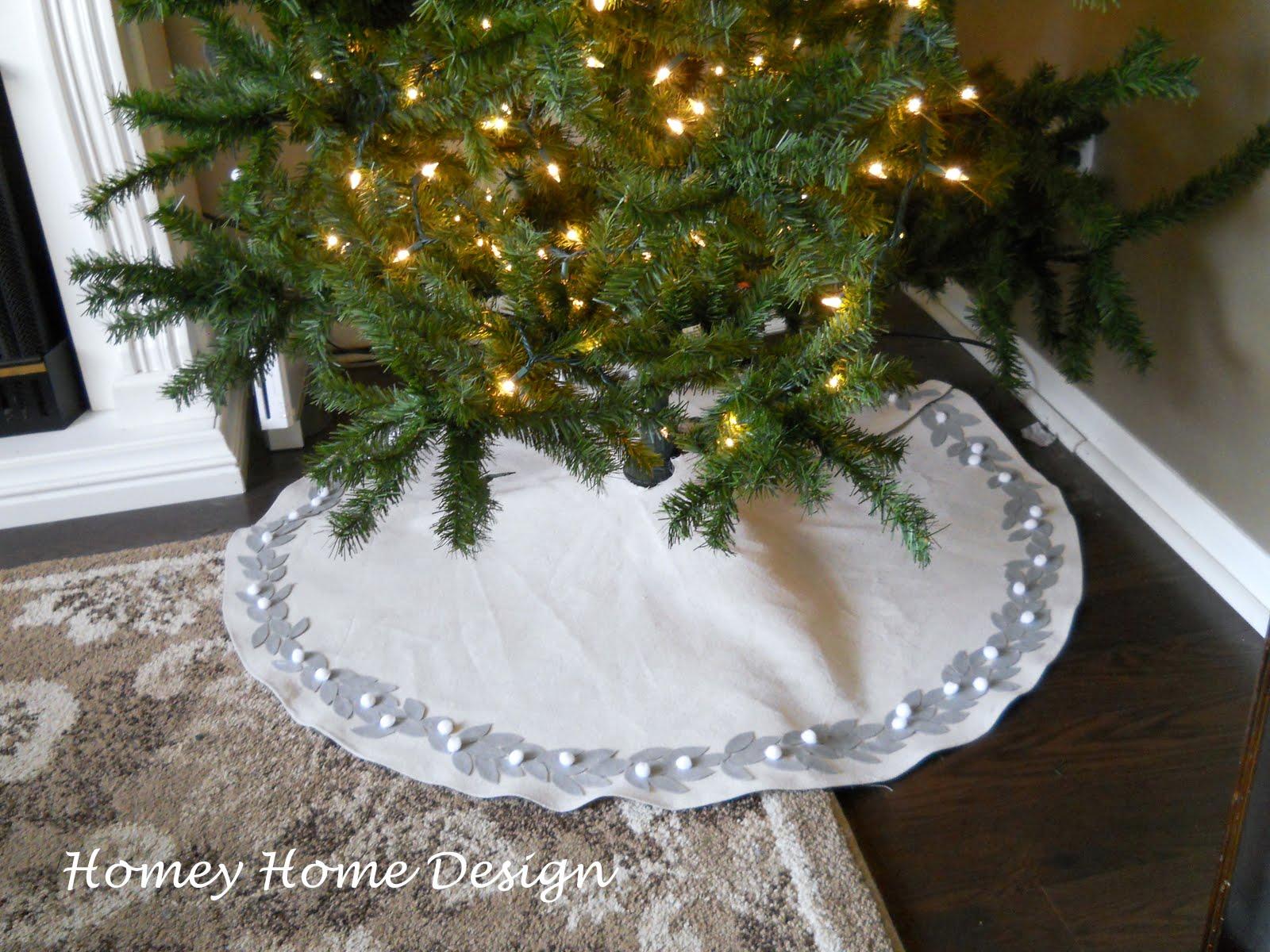 Homey home design christmas tree skirt tutorial