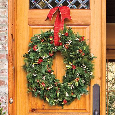 oval wreath l Decoração de Natal   Dicas de lindas guirlandas