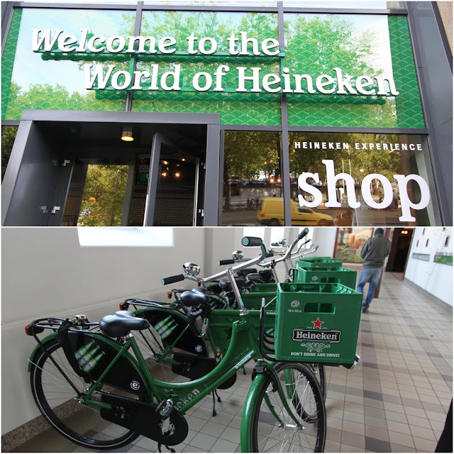 The main entrance of Heineken Experience Museum in Amsterdam, Netherlands