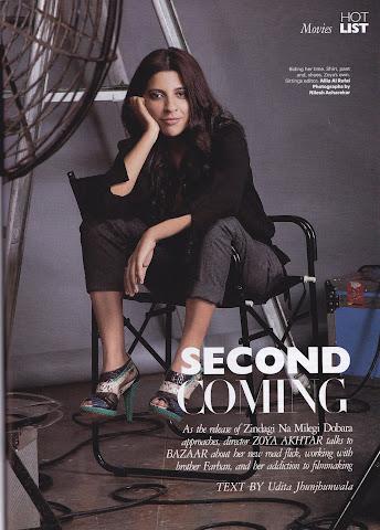 Zoya Akhtar in Harper's Bazaar