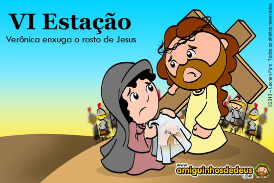 VIA SACRA - Verônica enxuga o rosto de Jesus