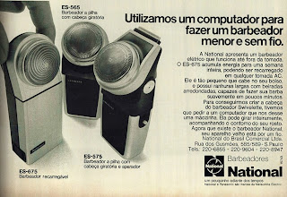 propaganda barbeador National - 1974