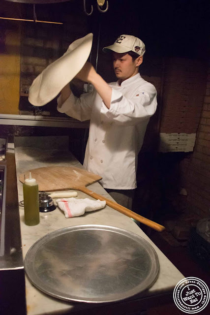 image of pizza making at Luzzo's with Scott's pizza tours in NYC, New York