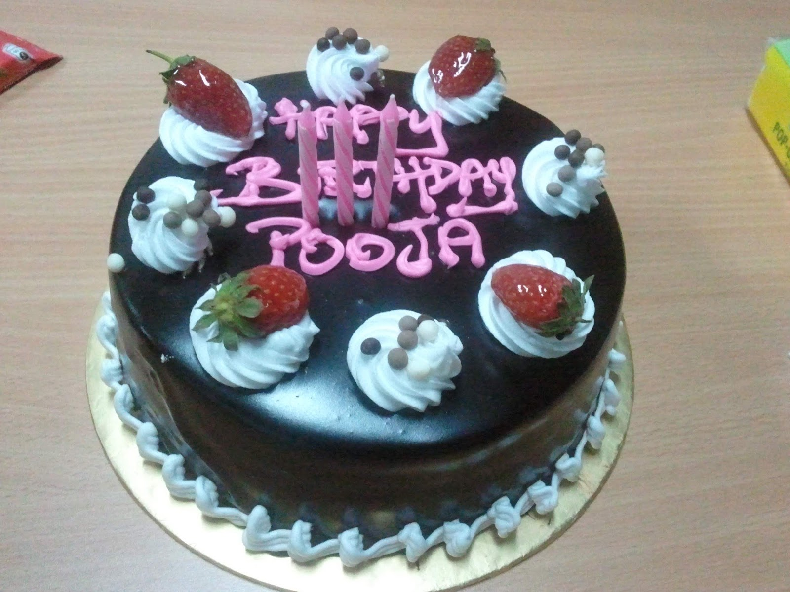 Cake Images For Pooja : ???????????: Pooja, Happy Birthday!