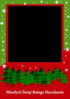 szablon pocztówki na Boże Narodzenie