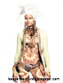 Tribal Body Paint on Pinterest