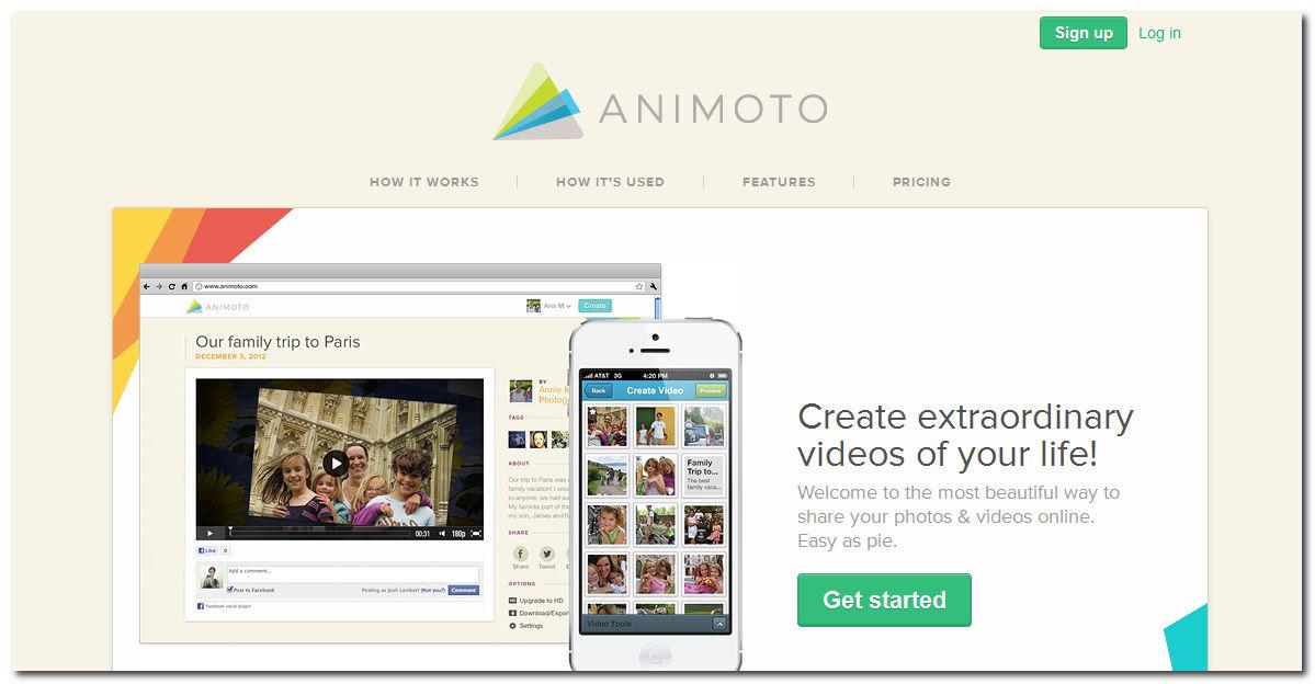 Animoto, Bagikan Foto & Video Secara Spesial