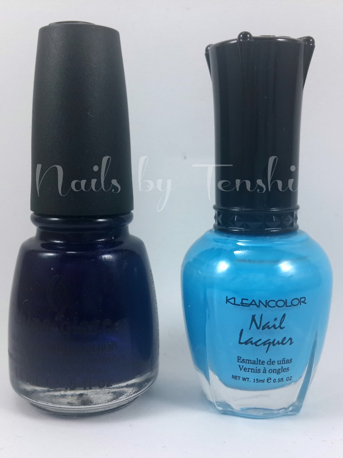 China Glaze Uo All Night & Kleancolor Beach  Blue