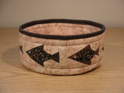 quilted bowl with fish pattern