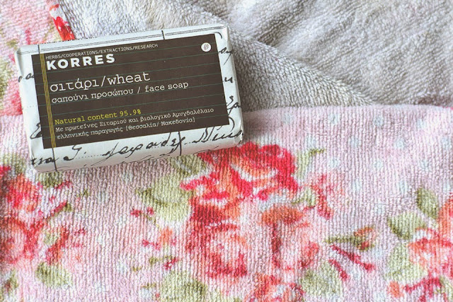KORRES, natural face soap in bar form!