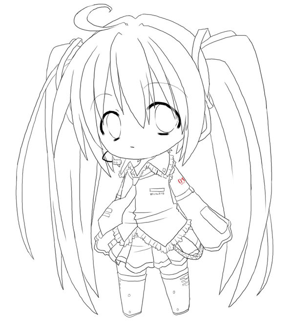 free coloring pages of chibi de rin y len