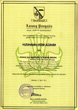 piagam juara 1 tingkat kab.Bandung