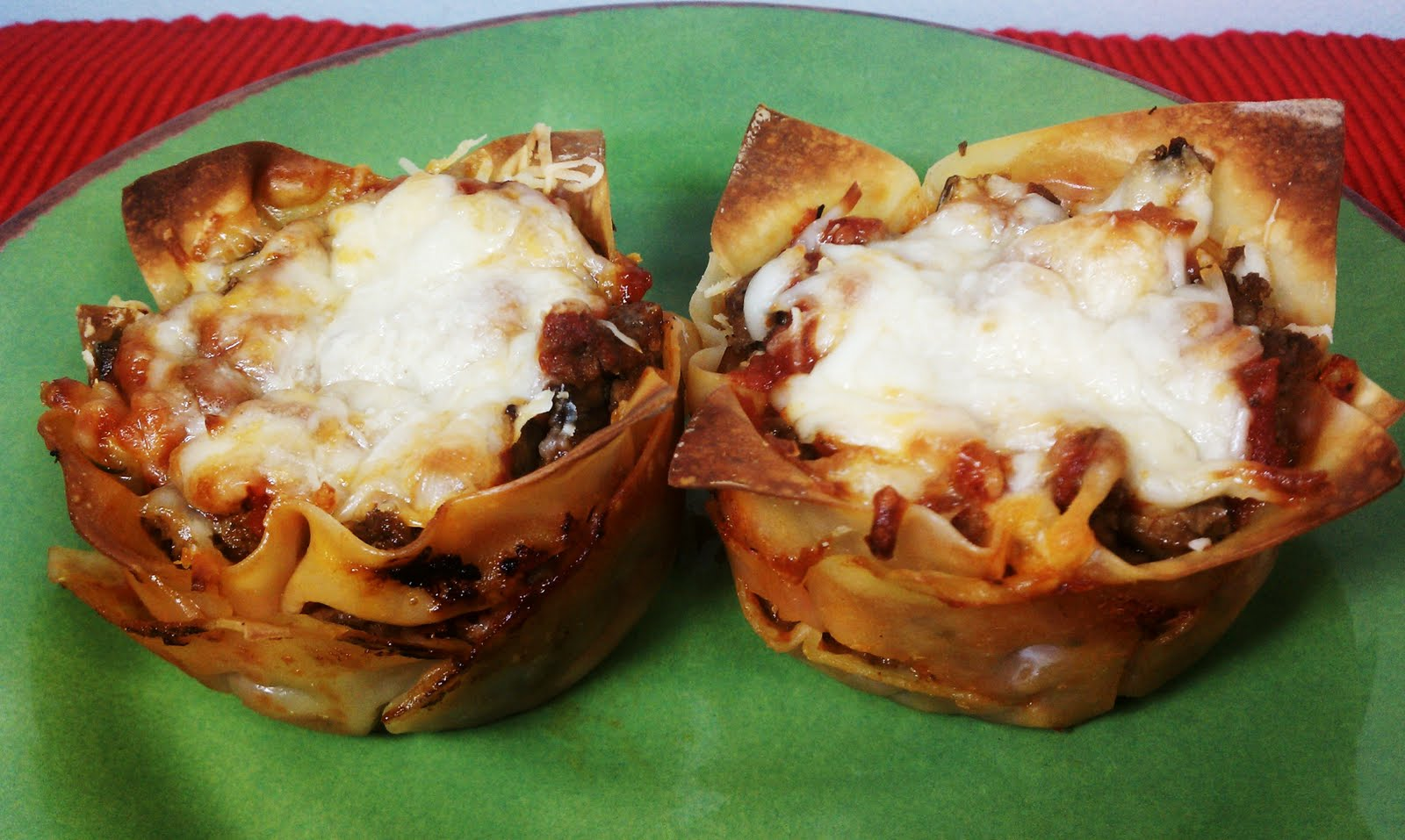 "Lasagna ""Cupcakes"" - Emily Bites"